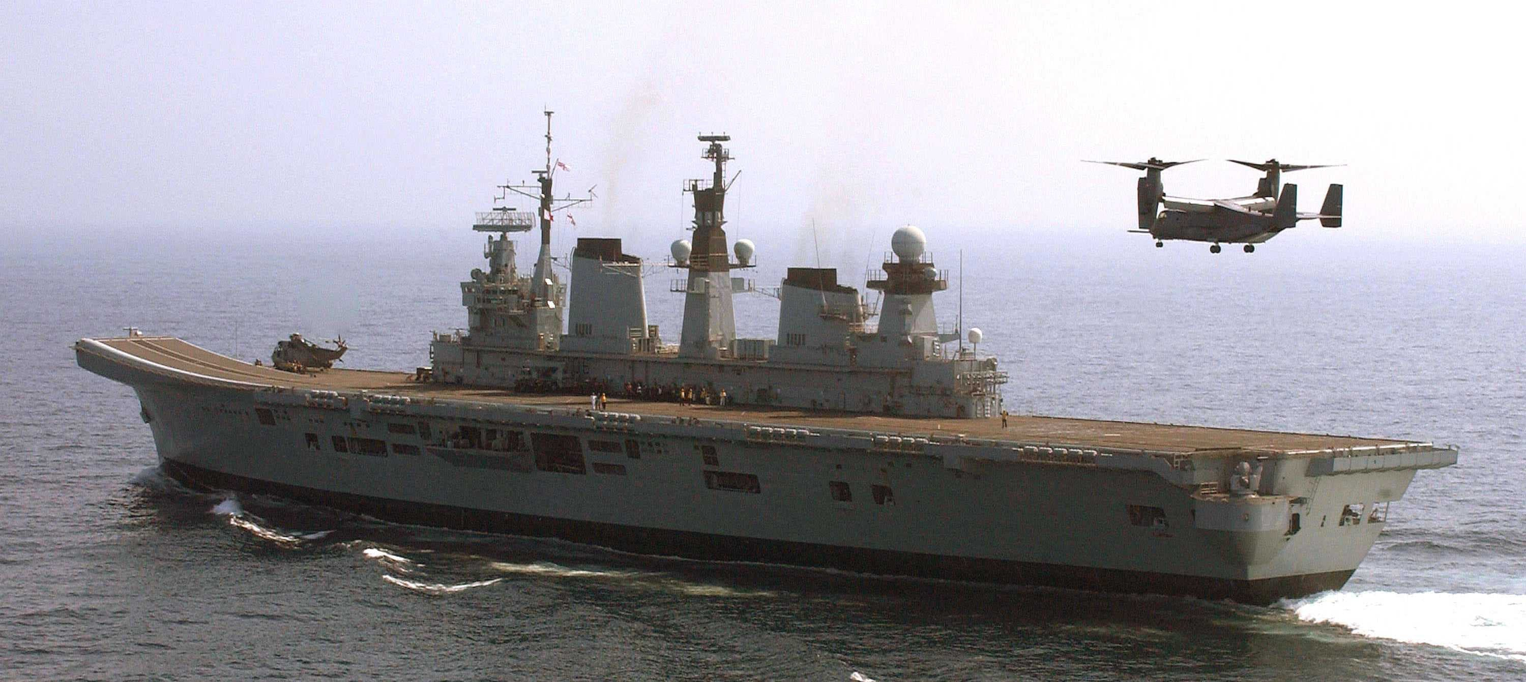 HMS Illustrious took part in V-22 trials.