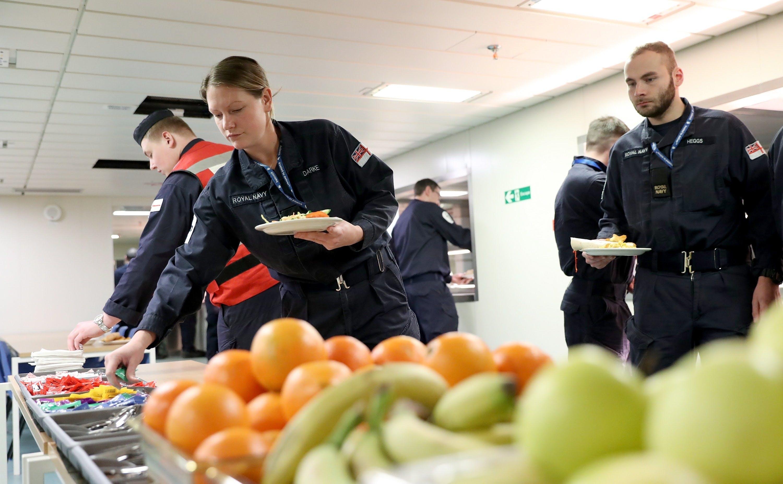 First Lunch onboard HMS Queen Elizabeth