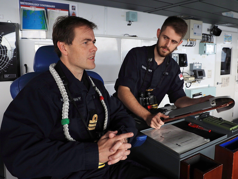 HMS DUNCAN ESCORTS RUSSIAN CARRIER TASK GROUP